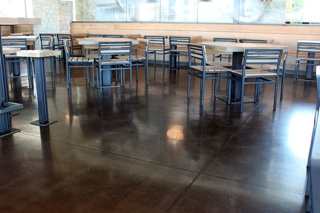 Restaurant – Polish & Dye Floor System